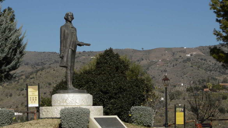 Estatua Bernardo de Gálvez en Macharaviaya
